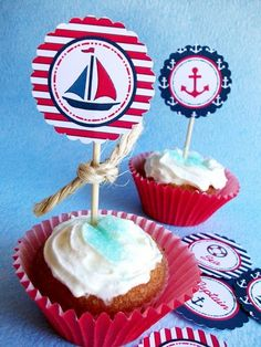 cupcake toppers with twine