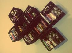Milk Crate Modular Shelf System by Garrett Brown, via Behance