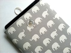 Cute iPad Sleeve iPad Case Padded Cover  by bertiescloset on Etsy, $26.99  Love the Elephants!
