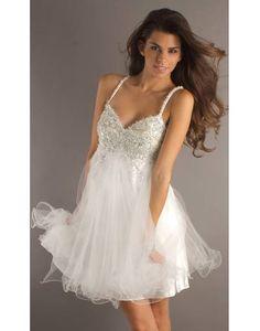 Noble Chiffon Sweatheart Sequins High Waist Princess Cocktail Dress on Sale at Persun.co.uk