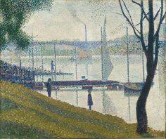 Georges Seurat. Bridge at Courbevoie. Oil on canvas. 1886-87