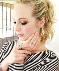 candice accola as Abigail Klaus And Caroline, Caroline Forbes, Candice Accola, Vampire Diaries Cast, Vampire Diaries The Originals, Rachael Taylor, Beauty Makeup, Hair Makeup, Candice King