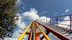 Goliath Roller Coaster Pov Front Seat On Ride Bm La Ronde Montreal Cana