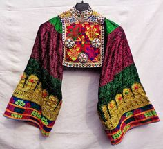 Kuchi Afghan Nomad Boho Banjara  Embroidey Tribal Dress Top  #Handmade #Kuchi #Formal