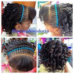 Peinados para nina pelo corto con cintas