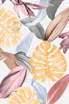 Iphone Background Wallpaper, Aesthetic Iphone Wallpaper, Aesthetic Wallpapers, Tropical Wallpaper, Pastel Wallpaper, Motif Tropical, Tropical Design, Tropical Prints, Cadre Design