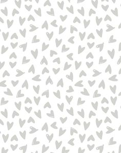 Hearts Wallpaper - Traditional / Roll / Black on White