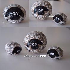 #sheep #fårfårfår #får #malpåsten #stonepainting #fri #cute #familie #familia #family #familyfirst