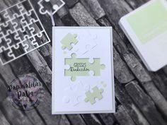 Stampin up puzzleteile love you to pieces Dankeskarte Danke Lindgrün Karten cards
