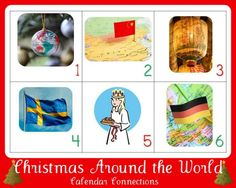Christmas Around the World ~ {free} Calendar Connections printables