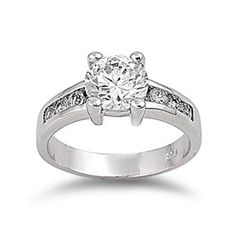 Dade's 2.5CT Brilliant Cut Channel Set Cubic Zirconia Engagement Ring