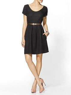 Bright Tweed Fit N Flare Dress. I think this would be perfect with a blazer, tights and boots.