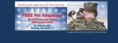 Military Personnel Adopt for Free - Arlington Shelter