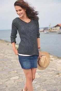 Pull résille à tricoter Tricot Encolure, Robe Tricot, Tricot Vêtement,  Tricot Femme, 219f0af0fc0c