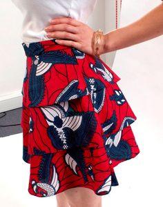 Handmade Tribal African Wax Print Fabric Three Tiered by tolatola, $52.00