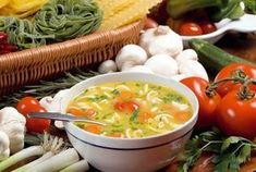 There's nothing like nice Italian soup recipes to take the chill out of a cold, cold day. Crock Pot Recipes, Crock Pot Soup, Healthy Canned Soups, Vegan Soups, Healthy Recipes, Healthy Tips, Homemade Turkey Soup, Italian Soup Recipes, Comidas Light