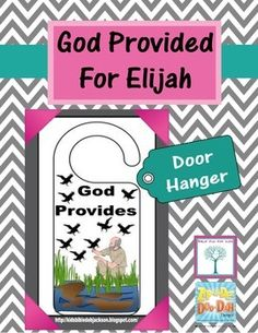 Elijah Door Hanger Printable Freebie