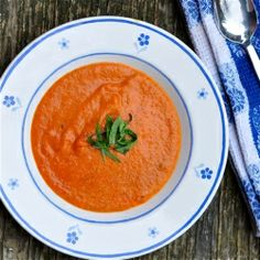Jamie Oliver's roasted tomato soup is so good, you'll never buy tomato soup again.