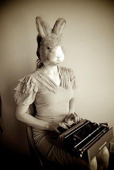 """Furry Bunny Mask by BiddyBopp on Etsy, $60.00"""