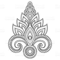 Henna tattoo flower template in Indian style. Ethnic floral paisley Henna tattoo flower template in … Henna Tattoo Designs, Henna Tatoo, Henna Tattoo Muster, Henna Art, Mandala Tattoo, Lotus Tattoo, Mehndi Designs, Paisley Tattoo Design, Henna Mehndi