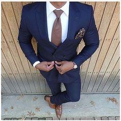 New Fashion Dark Blue Wedding Suits 2 Pieces Mens Suits Slim Fit (Jacket+Pants) Groom Tuxedos Groomsman Suits Business Suits #menssuit