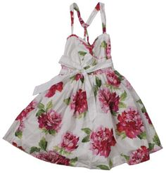 womena floral print dresses   Abercrombie & Fitch Women's Melina Floral Print Dress (White) (X-Small ...water girls