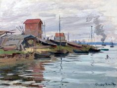 Claude Monet, The Seine at Petit-Gennevilliers, 1872. Private collection.