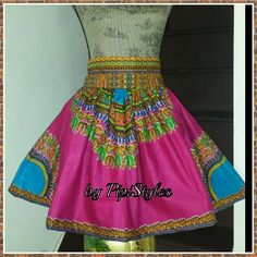Mini skirt in afri print