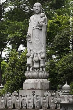 Protectors of Children, Goddesses of Motherhood, Patrons of Easy Delivery, Bringer of Children. Japanese Buddhism & Shintoism Photo Dictionary.