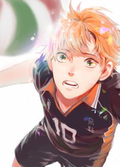 Haikyuu!! ~~ Get it, Hinata ! / I really like this picture. Usually you just see Hinata jumping around and being all confident that he can get it done, but sometimes his confidence gets shaken. I feel like we see him in the middle of such a moment when he wonders if he can do this.