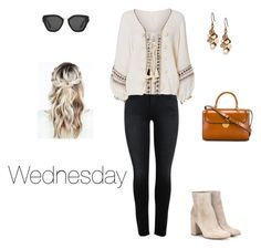 A fashion look from February 2017 featuring boho tops, five pocket pants and heeled boots. Browse and shop related looks. Boho Tops, Lucky Brand, Wednesday, Heeled Boots, Prada, Fashion Looks, Change, Polyvore, Shopping