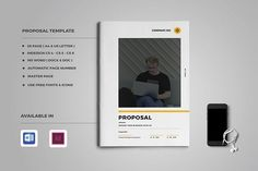 Proposal by Occy Design on @creativemarket #proposal #brochure #design #template #minimal