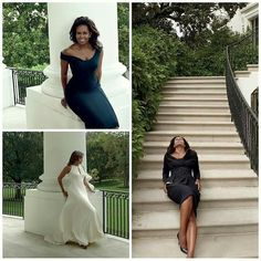 First Lady Michelle Obama Vogue magazine ----> So classy, elegant. Michelle Und Barack Obama, Barack Obama Family, Michelle Obama Fashion, My Black Is Beautiful, Beautiful People, Beautiful Pictures, Malia And Sasha, First Black President, Foto Casual