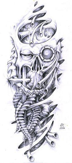 Biomechanical Tattoo Flash | biomechanical by dohuyamasla