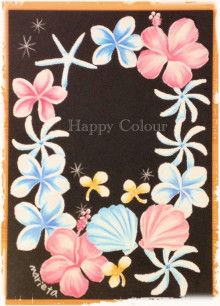 $Happy Colour to You~チョークアート・オーストラリアンワイルドフラワー・パステル和アート~-チョークアート オーストラリア ワイルドフラワー