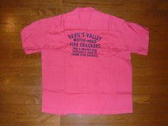 美品 クリームソーダ 半袖ボーリングシャツ ピンク ロカビリー_画像2 Cream Soda, Mens Tops, T Shirt, Supreme T Shirt, Tee Shirt, Tee
