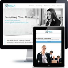 Nala Design Services Company website built with Wordpress using responsive web design.
