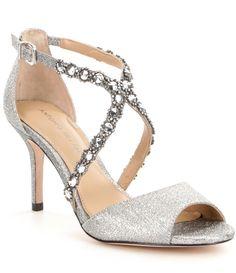 Mariane Satin Rhinestone Detail Dress Sandals eNhTnUU5