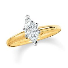 14K-Yellow-Gold-Solitaire-Diamond-Engagement-Ring-Marquise-Cut-J-Color-SI2-Clarity-101-ctw-0