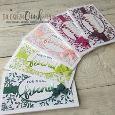 Mikaela Titheridge, UK Independent Stampin' Up! Demonstrator, The Crafty oINK Pen, In Color collection 2017-2019