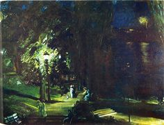 George Bellows - Summer Night Riverside Drive. Love this one..I love them all but this one holds a special space.