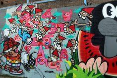 Wall paints, Muurschilderingen, Peintures Murales,Trompe-l'oeil, Graffiti, Murals, Street art.: Rotterdam - Netherlands Kbtr, Oxalien , Mausztune, Bartkore