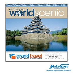 """Show your customers the world! Our breathtaking """"World Scenic"""" #calendar is the perfect gift to ring in the #NewYear. #photography #calendars #beautiful"""