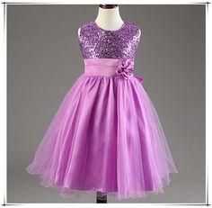 Princess dress Summer girls Glitter Dresse children Clothing girls birthday Christmas dress High Quality champagne 10 colors D62
