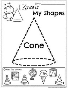 Looking for awesome shapes worksheets and games to use in your classroom? This and Shapes - Kindergarten Math Unit is filled with hands-on activities and no-prep worksheets to help children learn about and use shapes. Shapes Worksheet Kindergarten, Homeschool Kindergarten, Preschool Learning, Kindergarten Worksheets, Math Activities, 3d Shapes Worksheets, Math For Kids, Health Education, Physical Education