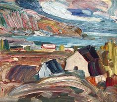 Baie-Saint-Paul, by Rene Richard. Richard was born in Switzerland, but worked and died in Baie-St-Paul, Quebec. Canadian Painters, Canadian Art, Baie St Paul, Louise Penny, Canada, Paintings I Love, Sculpture, Objet D'art, Quebec