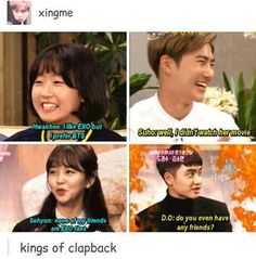 exo suho d.o. - featuring savage suho and d.o. lol that shade tho Kyungsoo, Chanyeol, K Pop, D O Exo, Bts And Exo, Kdrama Memes, Funny Kpop Memes, Sarcastic Memes, True Memes