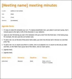meeting minutessample Sample format of meeting minutes the following is a sample format when creating minutes of a meeting the minutes are usually completed by the chapter secretary.
