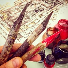 My best tools! I love to draw by using handmade dry twigs cut by myself By Using, Happy Shopping, I Am Awesome, Drawings, Handmade, Etsy, Tools, Craft, Drawing