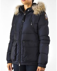 PARAJUMPERS New Alaska Women Navy High Fill Power Down Jacket